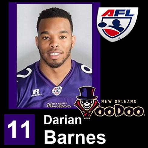 Darian Barnes AFL New Orleans VooDoo