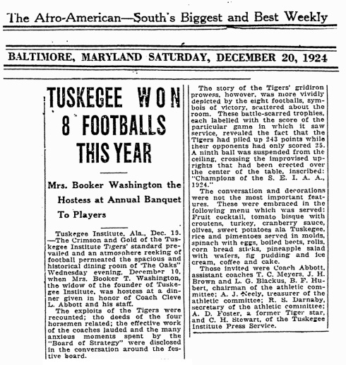 Tuskegee Football 1921
