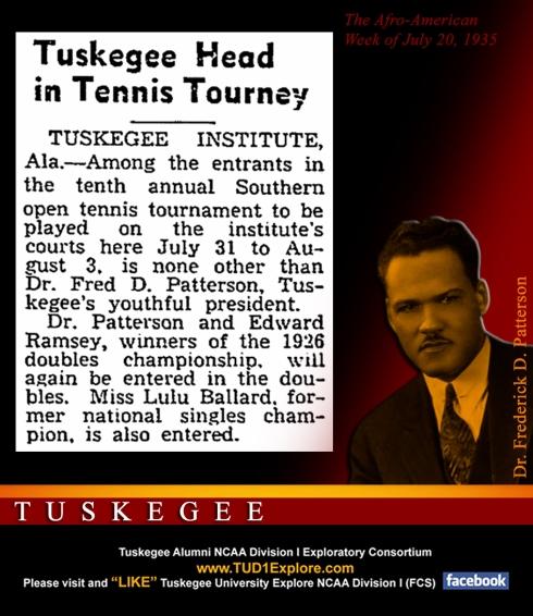 Frederick D Patterson Tennis