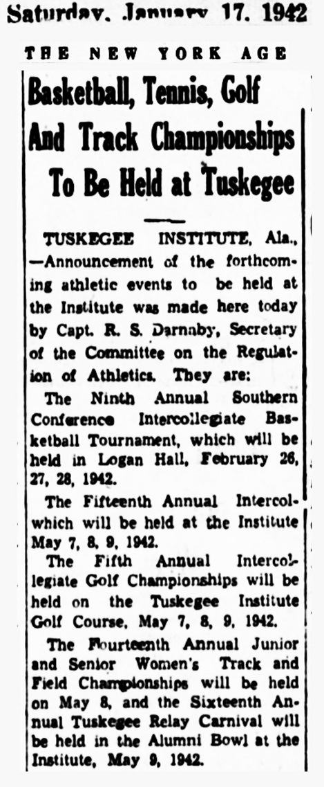 Tuskegee Golf 1942