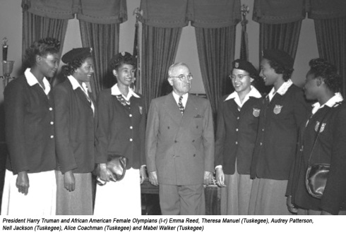 harry-truman-and-african-american-female-olympians