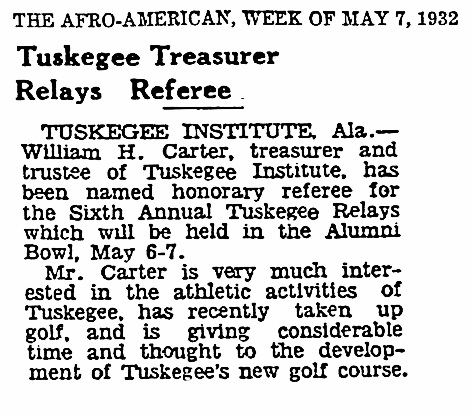 Tuskegee Golf 1932