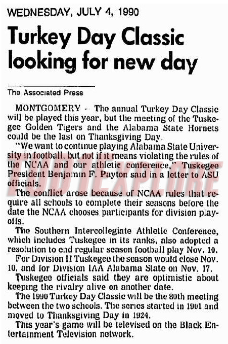 1990 Turkey Day Classic