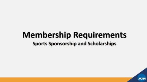 NCAA Division I Membership 09